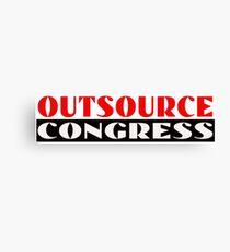 Outsource Congress Canvas Print