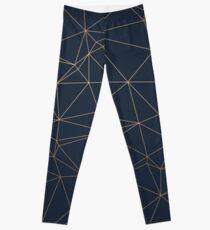 Luxurious Geometric Gold Leggings