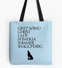 Stark Direwolves Tote Bag