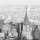 New York City - Snow Falls - Chrysler Building by Vivienne Gucwa