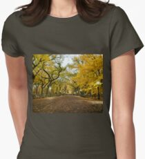 Central Park - Autumn -  Literary Walk - New York City Womens Fitted T-Shirt