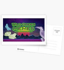 Wild Green Memes - Toucan, Moth, Frogs Postcards