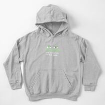 The eyes are the groin of the head (for darker colored shirts) Kids Pullover Hoodie