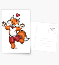 Foxy Boxers - Be My Valentine! Postcards