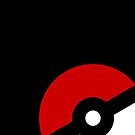 Minimalist Pokéball on Black by Sarinilli