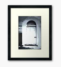 White Aged Framed Print