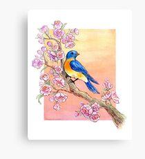 Sweet Little Bluebird Canvas Print
