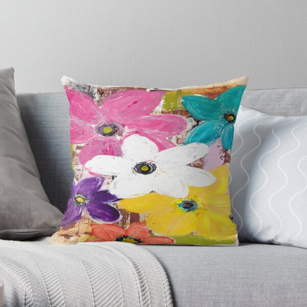 GARDEN OF COLOUR Throw Pillow