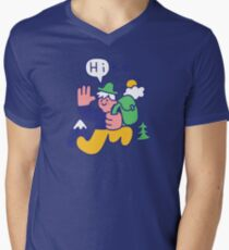 Friendly Hiker V-Neck T-Shirt