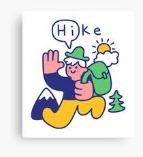 Friendly Hiker Canvas Print