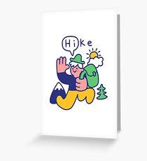 Friendly Hiker Greeting Card
