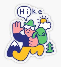 Friendly Hiker Transparent Sticker