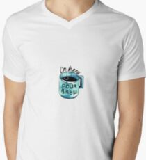 Encouraging Coffee Cup V-Neck T-Shirt