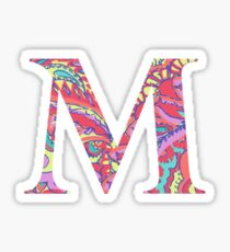 The Letter M - Lily Style Sticker