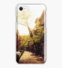 Sunlit Street - Greenwich Village - New York City iPhone Case/Skin