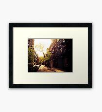 Sunlit Street - Greenwich Village - New York City Framed Print