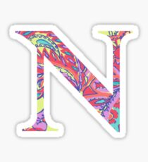 The Letter N - Lily Style Sticker
