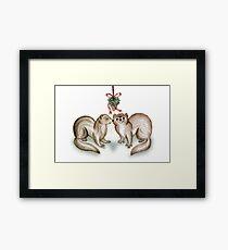 A Ferrety Kiss - Christmas Cards Framed Print