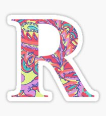 The Letter R - Lily Style Sticker