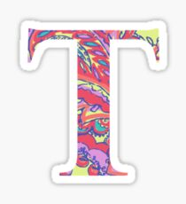 The Letter T - Lily Style Sticker