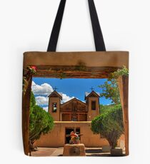 Gates to Santuario de Chimayó Church Tote Bag