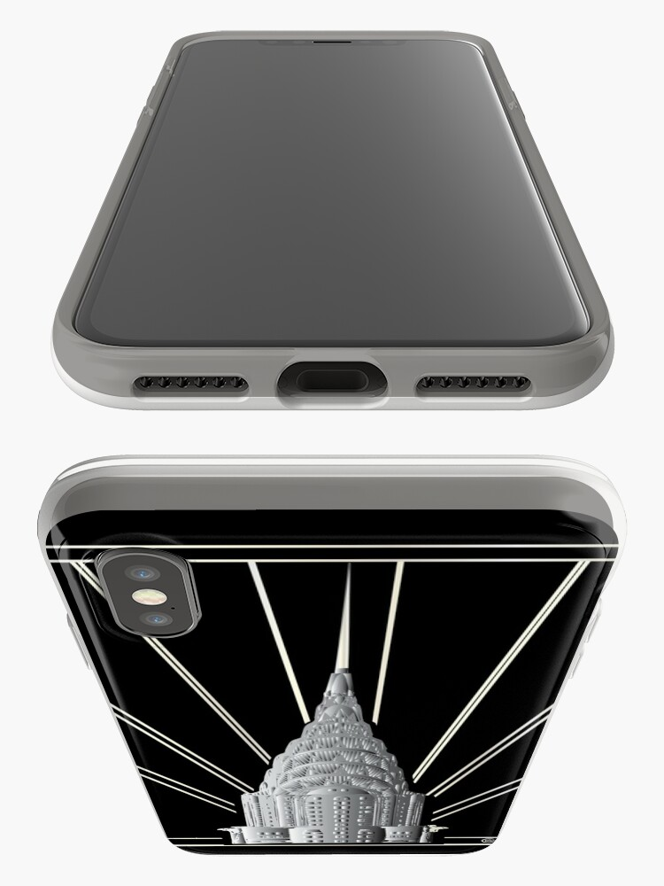 Alternate view of Chrysler Building Art Deco Silver Crown iPhone Case & Cover