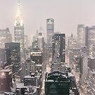 Snow - Chrysler Building - New York City - Dawn by Vivienne Gucwa
