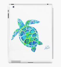 Sea Turtle no splots by Jan Marvin iPad Case/Skin