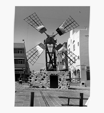 Old Windmill in Corralejo Poster