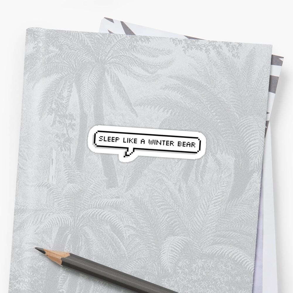 """""""winter Bear Lyrics V"""" Sticker By Tiny-moonchild"""