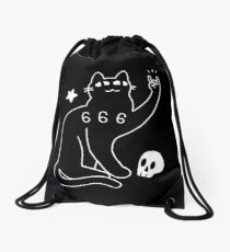 Metal Cat Drawstring Bag