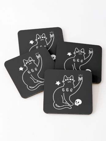 Metal Cat Coasters
