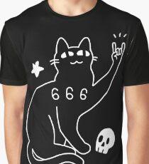 Metal Cat Graphic T-Shirt