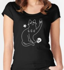 Metal Cat Fitted Scoop T-Shirt