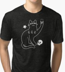 Metal Cat Tri-blend T-Shirt
