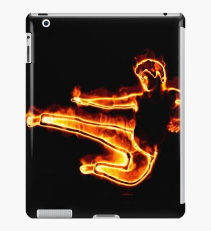 Brennender Mann in einem Sprung iPad-Hülle & Klebefolie