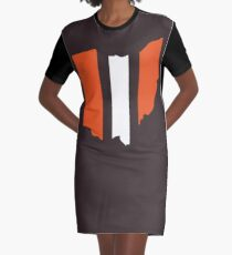 Cleveland Browns Stripe Graphic T-Shirt Dress