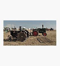 Vintage Case & Monktells Tractors  Photographic Print