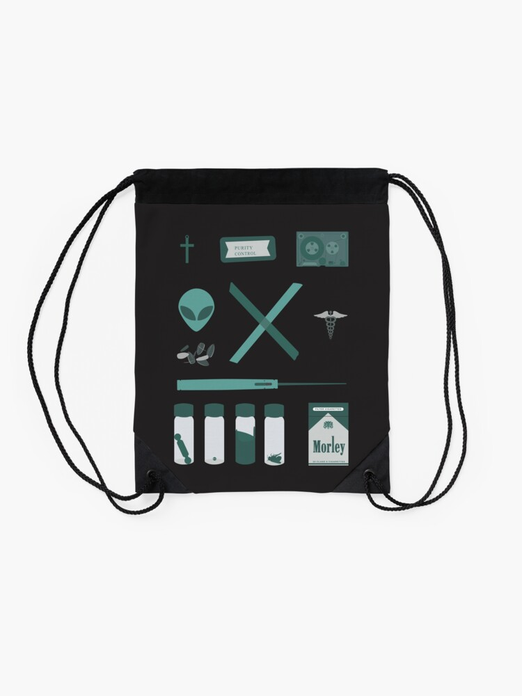 Alternate view of X-Files  Drawstring Bag