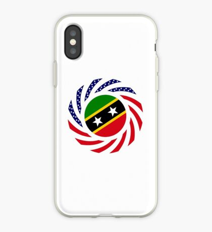 Kittian and Nevisian American Multinational Patriot Flag Series iPhone Case