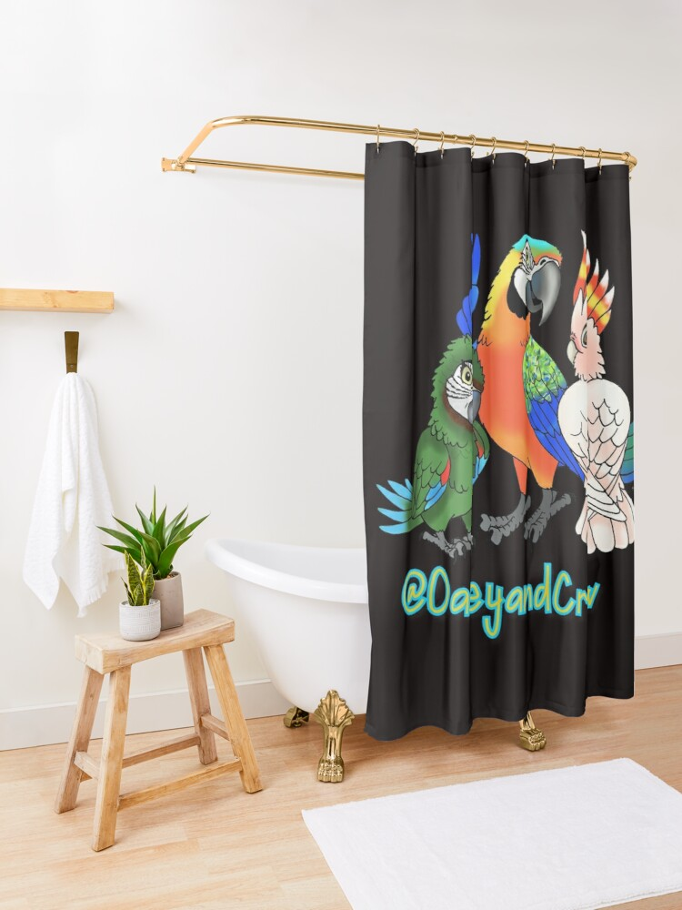 Alternate view of Oakey and Crew Shower Curtain