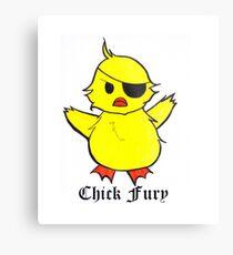 Chick Fury Metal Print