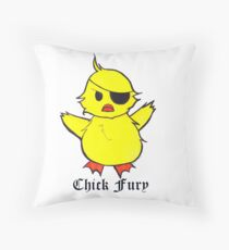 Chick Fury Throw Pillow
