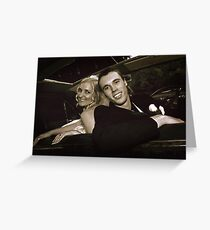 Inside the Wedding Limo Greeting Card