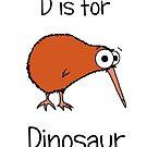 D is for Dinosaur (kiwi) by Adrienne Body