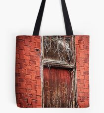 Old Rail Way Door Tote Bag