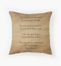 Charmed Spell Throw Pillow