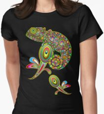 Chameleon Psychedelic Fitted T-Shirt