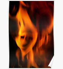 Tormented soul trapped in the fire. Poster