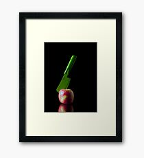 I Hate Fruit - Apple Framed Print